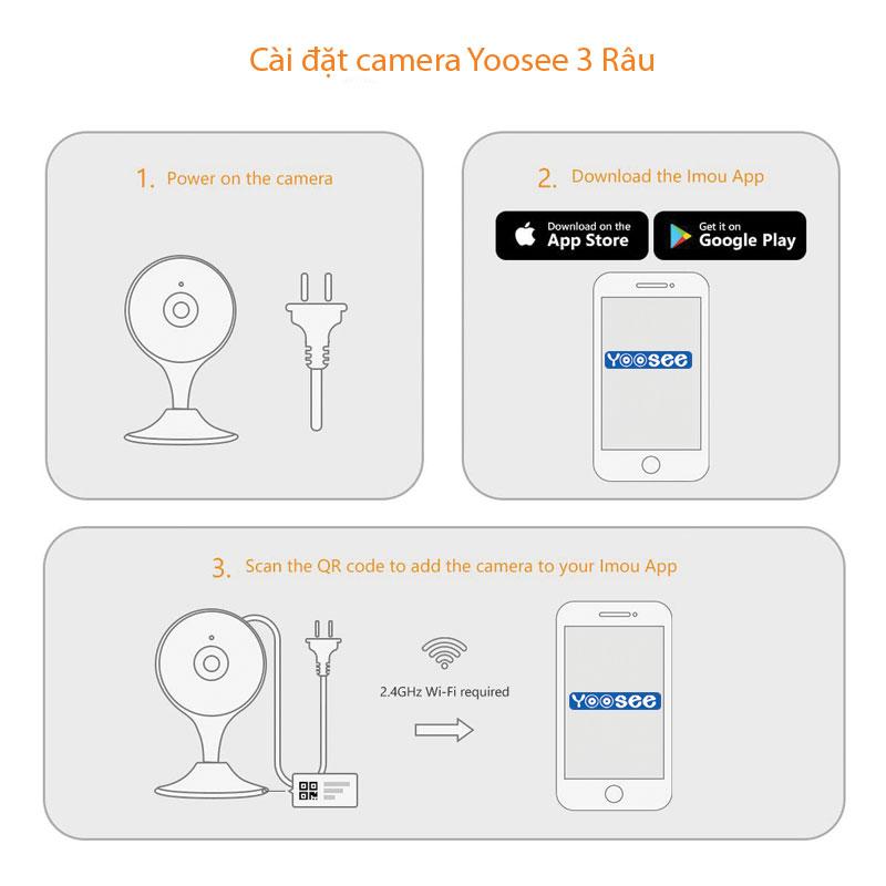 4 Bước cài đặt camera wifi Yoosee