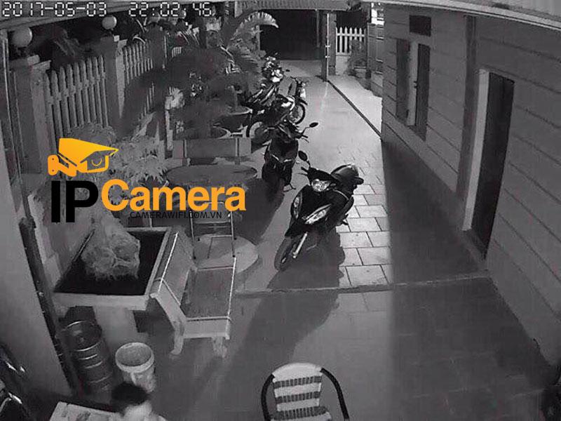 Hình ảnh ban đêm lắp camera yoosee giá rẻ