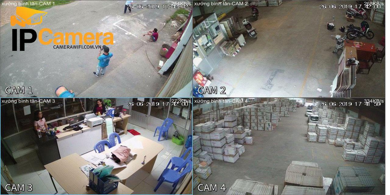 Hình ảnh lắp đặt thực tế camera yoosee giá rẻ