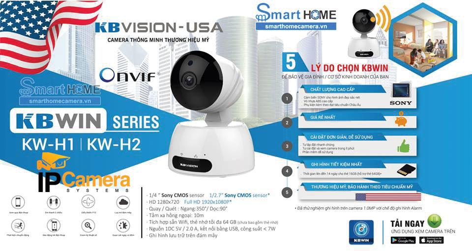 Camera wifi Kbvision giá rẻ
