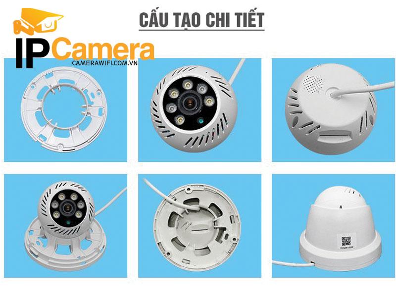 Cấu tạo camera không dây gồm các bộ phận sau: